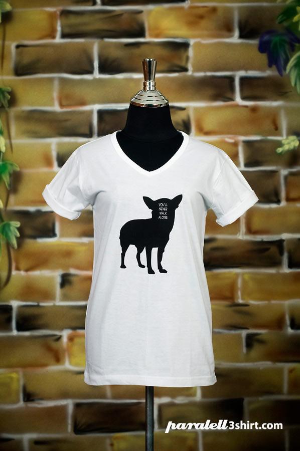 เสื้อยืด Paralell t-shirt สกรีนลายหมาน้อย | 0866620787